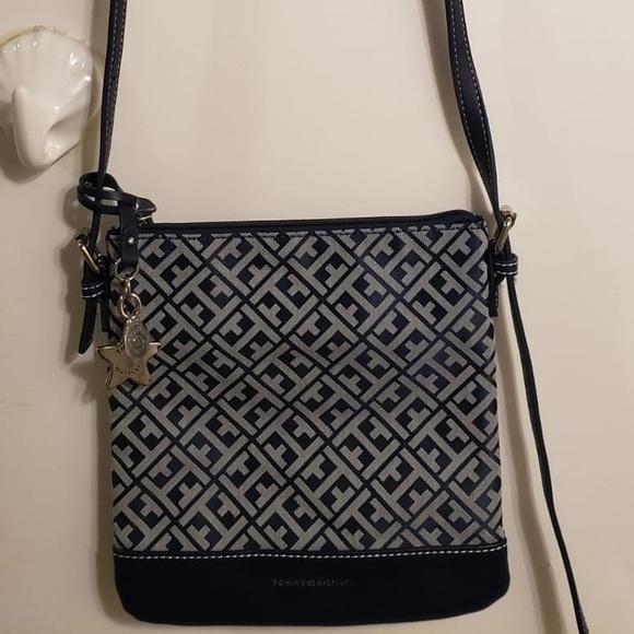 Tommy Hilfiger Handbags - Tommy Hilfiger Printed Navy Crossbody